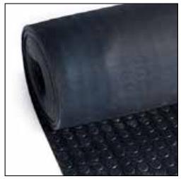 Noppenloper zwart, dikte 3 mm, breedte 800 mm, per lopende meter